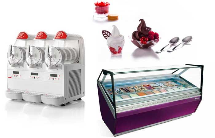 Machines et équipements pour les magasins de glaces